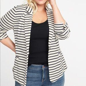 NWT | Striped Ponte-Knit Blazer